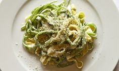 Tagliatelle with runner beans
