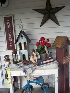 This is beautiful! Looks exactly like my Mama's porch... I found it while looking for old country porch ideas for my own house! :)