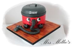 7 inch Chocolate and banana and caramel cake, carved into a mini Henry Hoover. Birthday Cakes For Men, Man Birthday, Henry Vacuum, Adult Party Themes, Occasion Cakes, Cake Pops, Caramel, Cake Decorating, Banana