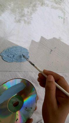 Art Drawings Beautiful, Art Drawings Sketches Simple, Cd Art, Book Art, Art Painting Gallery, Painting Videos, Watercolor Art Lessons, Mini Canvas Art, Creative Painting Ideas