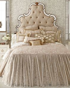 Shop luxury bedding sets and bedding collections at Horchow. Browse our incredible selection of full, queen, and king size luxury bedding sets. Hooker Furniture, Bedroom Furniture, Bedroom Decor, Furniture Decor, Shabby Chic Bedrooms, Shabby Chic Homes, Country Bedrooms, Shabby Chic Zimmer, Luxury Bedding Sets