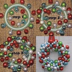 How to make your own ornament wreath on Apartment Therapy.