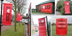 Some lovely campaign banners we printed and fitted for Cheadle Hulme School in aid of raising funds for their Fitness Centre.