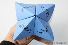 Kids love learning how to make a paper fortune teller, so why not combine making a paper fortune teller with educational activities? This Sight Word Paper Fortune Teller is the best of both worlds. | AllFreeKidsCrafts.com