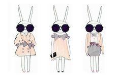stylish bunnies........ want for my closet