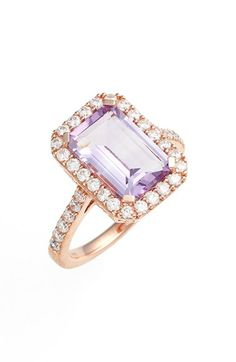 Lafonn 'Aria' Emerald Cut Ring available at #Nordstrom