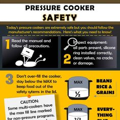 Today's pressure cookers are extremely safe but you should followmanufacturer's recommendations. Here are our seven tips to safe pressure cooking.