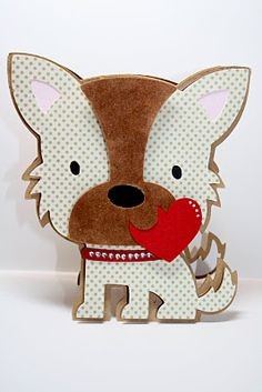Cute puppy card using Create a Critter - This blog has tons of great card ideas!