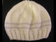 Basic Knitted Baby Hat 0-3 months - YouTube