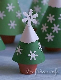 Paper Crafts for Christmas - Advents Calendar with Clay Pot Trees 2