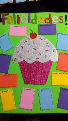 Deco Birthday Bulletin Boards, Classroom Birthday, Birthday Board, Preschool Classroom, Preschool Activities, Class Decoration, School Decorations, Classroom Displays, Classroom Decor