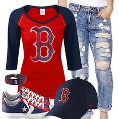 Boston Red Sox Converse Outfit