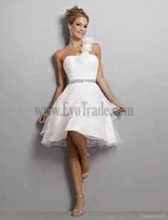 Perfect Short Wedding Dresses For The Beach Chic And Modern Knee Length One Shoulder On Line Wedding Dresses