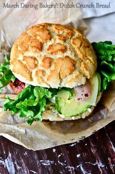 (7) Fancy - Dutch crunch bread sandwich