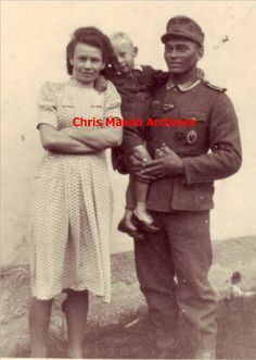 "LET ME BLOW YOUR MIND...This is photo of a soldier,(German father, African mother). His father was a colonial administrator in German SW Africa (now Namibia). When the official returned to Germany, he took his son with him. This is the man while serving in the army of ""NAZI GERMANY'! His wife, was a mixed race German from the Rhineland. The hair features on both of them clearly show a mix of African caucasian ancestry... he was NOT the only one in the German Army! ""...the more you know"""