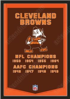 Dynasty Banner Of Cleveland Browns With Team Color Double Matting-Framed Awesome & Beautiful-Must For A Championship Team Fan! Most NFL Team Dynasty Banners Available-Plz Go Through Description & Mention In Gift Message If Need A different Team Art and More, Davenport, IA http://www.amazon.com/dp/B00FF46UQE/ref=cm_sw_r_pi_dp_qvgJub1NQXZHW