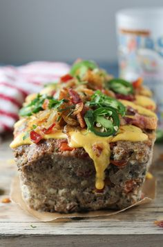 You searched for Bacon cheeseburger meatloaf - PaleOMG - Paleo Recipes Easy Healthy Meatloaf Recipe, Meatloaf Recipes, Paleo Recipes, Low Carb Recipes, Paleo Meals, Fruit Recipes, Healthy Dinners, Pumpkin Recipes, Pork Recipes