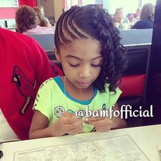 Cute lil girl with an adorable hairstyle!!