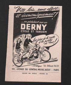 PUBLICITE-DE-PRESSE-CYCLES-ET-TANDEM-DERNY-1952