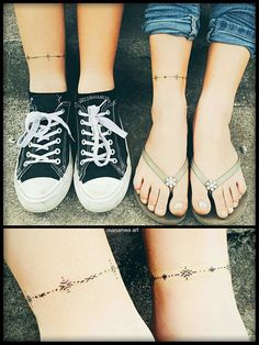 Trendy ankle tattoos are gaining popularity these years, especially among young ladies. MERNUR hopes these 67 Infinity Beautiful Ankle Bracelet Tattoos Design Anklet Tattoos Idea for Women that can help you out. Armband Tattoos, Anklet Tattoos, Tattoo Bracelet, Mehndi Tattoo, Sleeve Tattoos, Samoan Tattoo, Henna, Polynesian Tattoos, Arm Tattoo