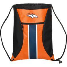 Denver Broncos NFL Big Stripe Zipper Drawstring Backpack