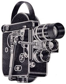 Vintage Bolex Movie Cameras; H-16 Reflex 16mm Camera 1956