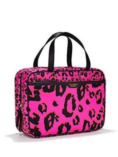 Victorias Secret Large Hanging Cosmetic Bag Travel Case Pink Leopard Print -- Learn more by visiting the image link. Victoria Secret Outfits, Victoria Secret Pink, Pink Makeup Bag, Makeup Bags, Hanging Cosmetic Bag, Makeup Bag Essentials, Pink Luggage, Pink Leopard Print, Travel Bags