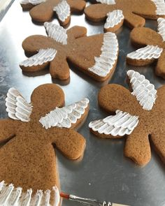 Gingerbread Angel Cookies by Aime Pope Spice Cookies, Pumpkin Spice Cupcakes, Gingerbread Decorations, Gingerbread Cookies, Christmas Baking, Christmas Cookies, Christmas Kitchen, Single Cookie, Angel Cookies