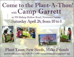Come to the Plant-A-Thon on April 26th from 10 am to 1 pm!
