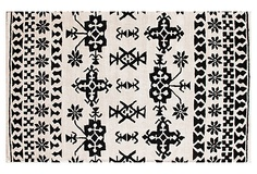 I REALLY like this.Bahia Rug, Cream/Black on OneKingsLane.com