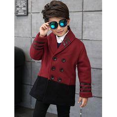 Shawl Collar Butttoned Woolen Coat #men, #hats, #watches, #belts, #fashion