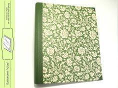 Ordner & Ordnerrücken - Ordner Ringordner DIN A4 Wiesenblumen grün - ein Designerstück von BuchbindereiFruehauf bei DaWanda