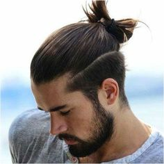 #Hairstyles #LongHairstyles Long Hair with Top Knot and Beard, Click to See More...