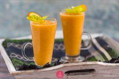 Przepis na koktajl z selera naciowego z ananasem, bananem, pomarańczą, marchewką i kolendrą lub miętą, szpinakiem. Najlepszy koktajl z selerem naciowym na śniadanie lub przekąskę - przepis krok po kroku jak zrobić koktajl selerowy naciowy.