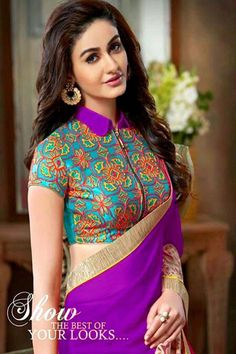Purple Georgette Party Wear Saree