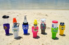 Personalized Beach Spikers   with summer images by TheFavoredParty, $13.00