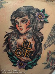 Tattoo by Valerie Vargas! Such an inspirational artist! :)