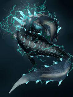 MH3U ~ fan art of the Abyssal Lagiacrus