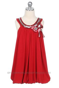pinterest simple girls dress size 7/8 | ... Dress with Sequin Trim - See All Dresses - Flower Girl Dress For Less