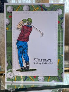 Hi stampers! LeAnne here with our latest challenge! First, thank you to everyone who played along with Jaydee's Woodland Creatures chall. Golf Birthday Cards, Man Birthday, Masculine Birthday Cards, Masculine Cards, Golf Cards, Cool Sketches, Stamping Up Cards, Doodle Drawings, I Card