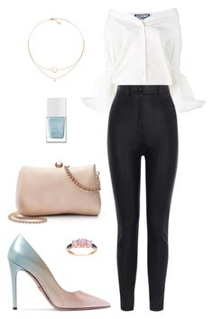 Street style by dalma-m on Polyvore featuring polyvore fashion style Jacquemus Karen Millen Prada LC Lauren Conrad The Hand & Foot Spa clothing