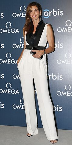 How to Wear a Jumpsuit at Any Age   CINDY CRAWFORD   Age: 51 Wearing: Emanuel Ungaro
