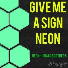 Neon - Jonas Brothers Lyrics V