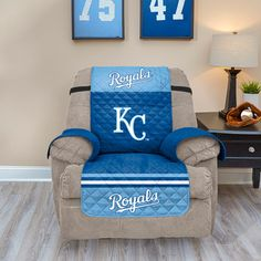 chair covers kansas city striped dining cushions 18 best kc royals images baseball quilted recliner cover