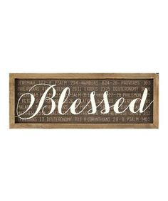 Another great find on #zulily! 'Blessed' Wall Art #zulilyfinds