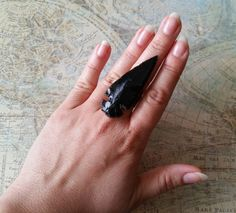 Large Black Statement Ring Ladies Statement by UrbanCoutureJewelry