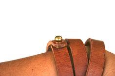 Image of Leather Wrap Bracelet