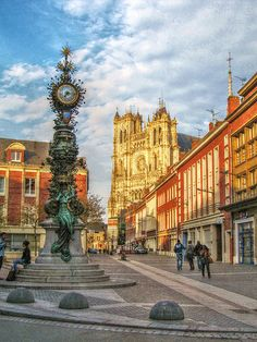 Amiens, France have to visit here cause of jules verne Coron, Most Romantic Places, Beautiful Places, Places Around The World, Around The Worlds, France Country, Honfleur, Places To Travel, Places To Visit
