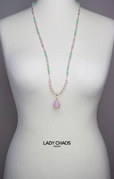 Ketten lang - ★ Zierliche Halskette mit Anhänger ★ - ein Designerstück von lady_chaos bei DaWanda