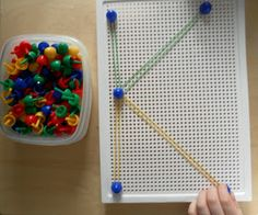 A few good letter recognition activities. I like the pegboard and rubber band letters one. Lots of great ideas on repetition though